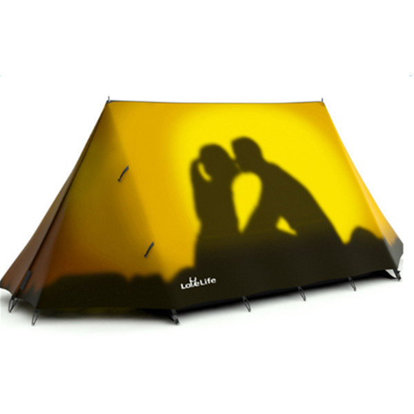 3-Person Brick Wall Pattern Waterproof Windproof Quick-Set up with Two LayersTent