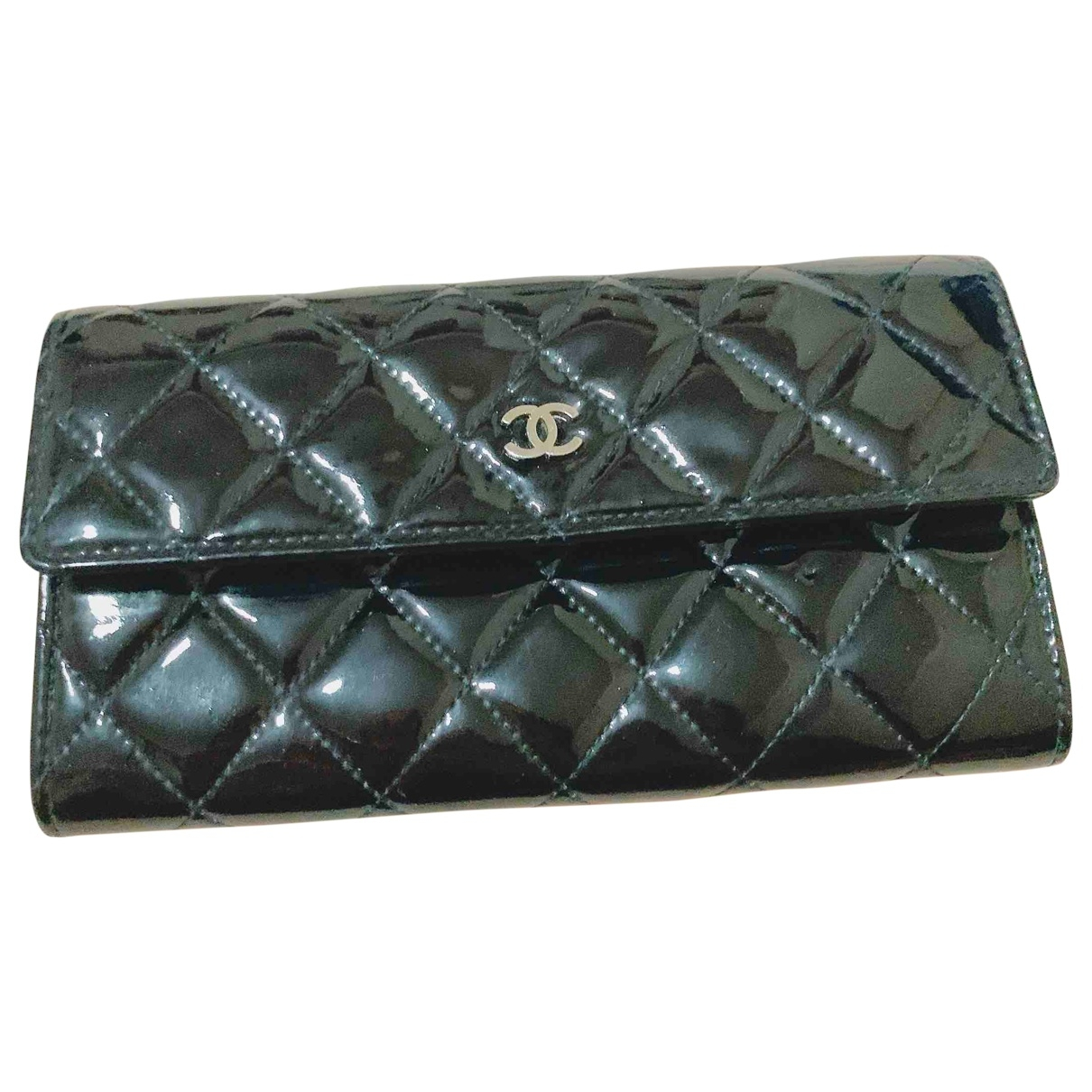 Chanel Timeless/Classique Black Patent leather wallet for Women \N