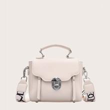 Twist Lock Satchel Bag