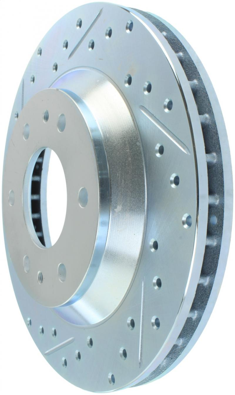 StopTech 227.66051R Select Sport Drilled and Slotted Brake Rotor; Front Right