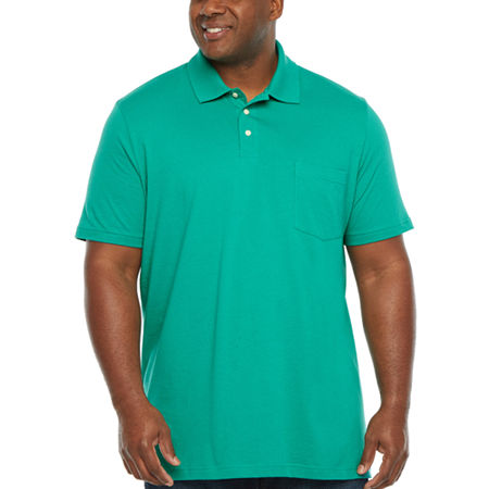 The Foundry Big & Tall Supply Co. Mens Henley Neck Short Sleeve Polo Shirt Big and Tall, 2x-large Tall , Green