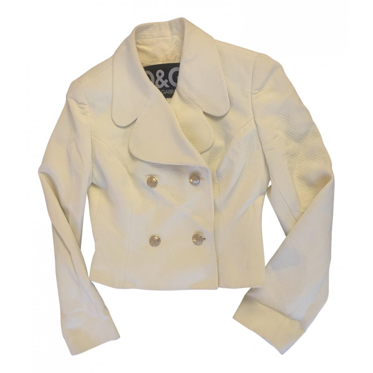 D&g N Ecru Cotton jacket for Women 42 FR