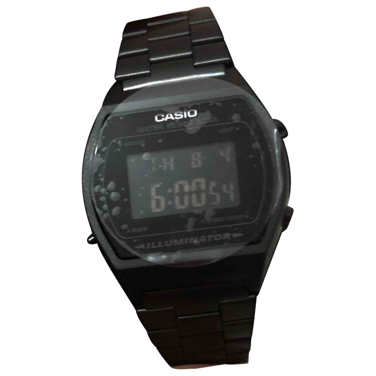 Casio \N Black Steel watch for Men \N