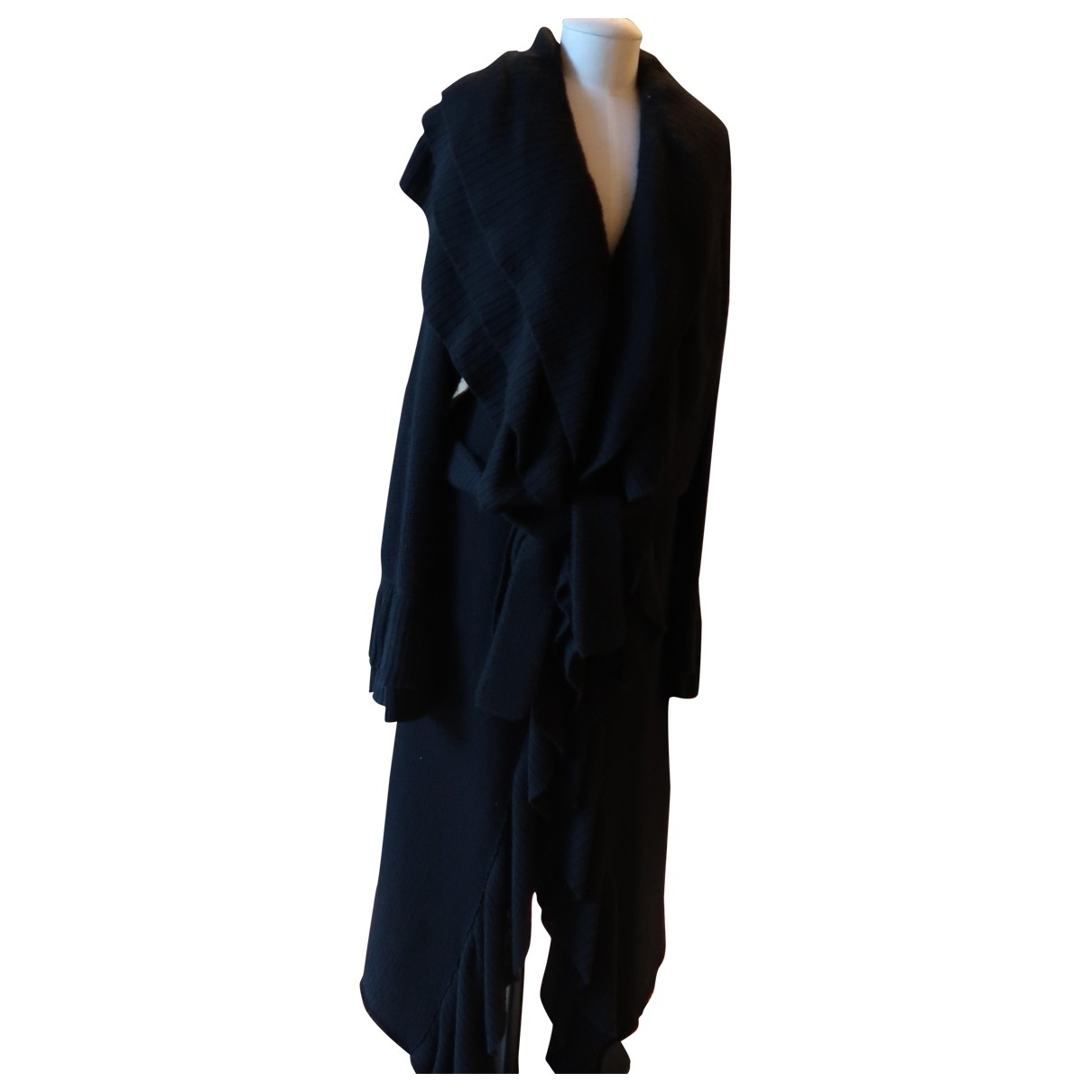 Emanuel Ungaro \N Black Wool coat for Women L International