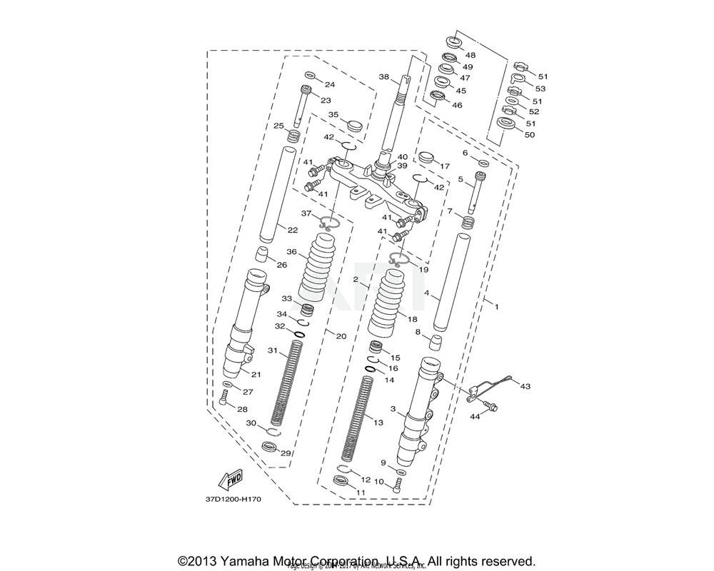 Yamaha OEM 58P-F3317-00-00 HOLDER, CABLE