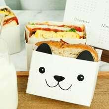 10 Stuecke Cartoon Bear Design Sandwich Papiertuete
