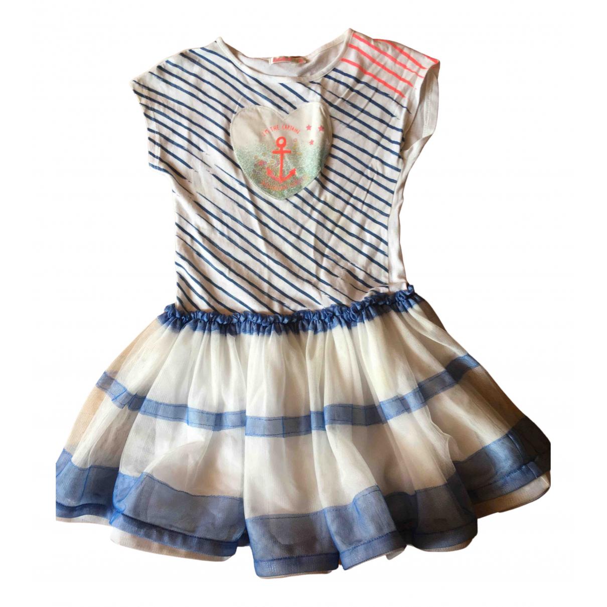 Billieblush - Robe    pour enfant en coton - elasthane - blanc