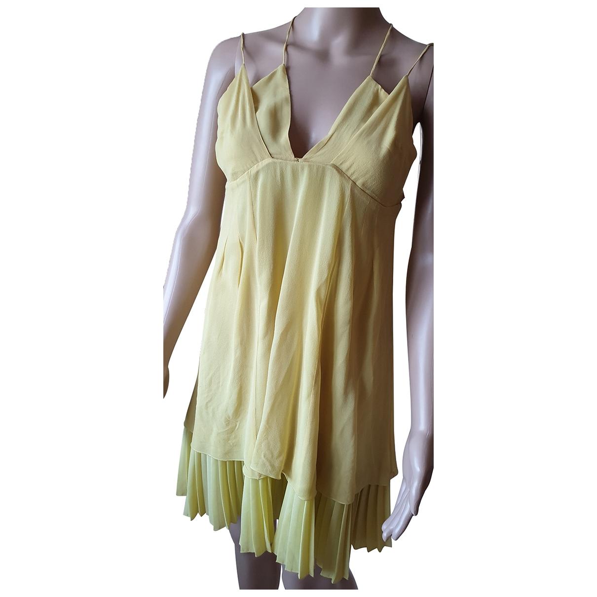 Patrizia Pepe \N Yellow Silk dress for Women 40 FR