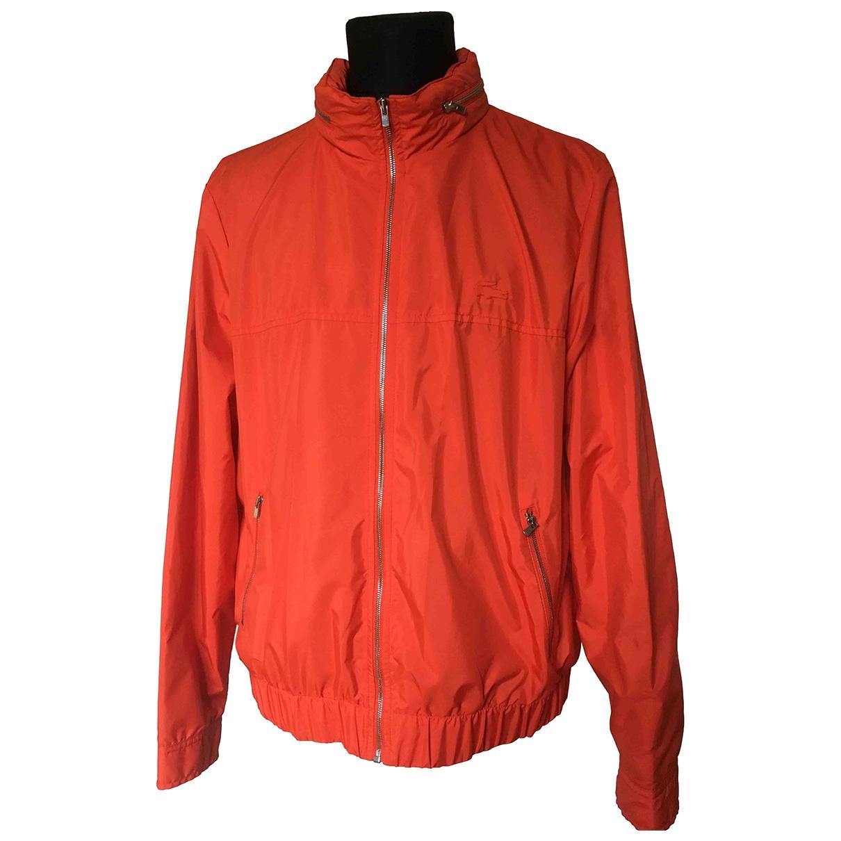 Lacoste \N Lederjacke in  Orange Polyester