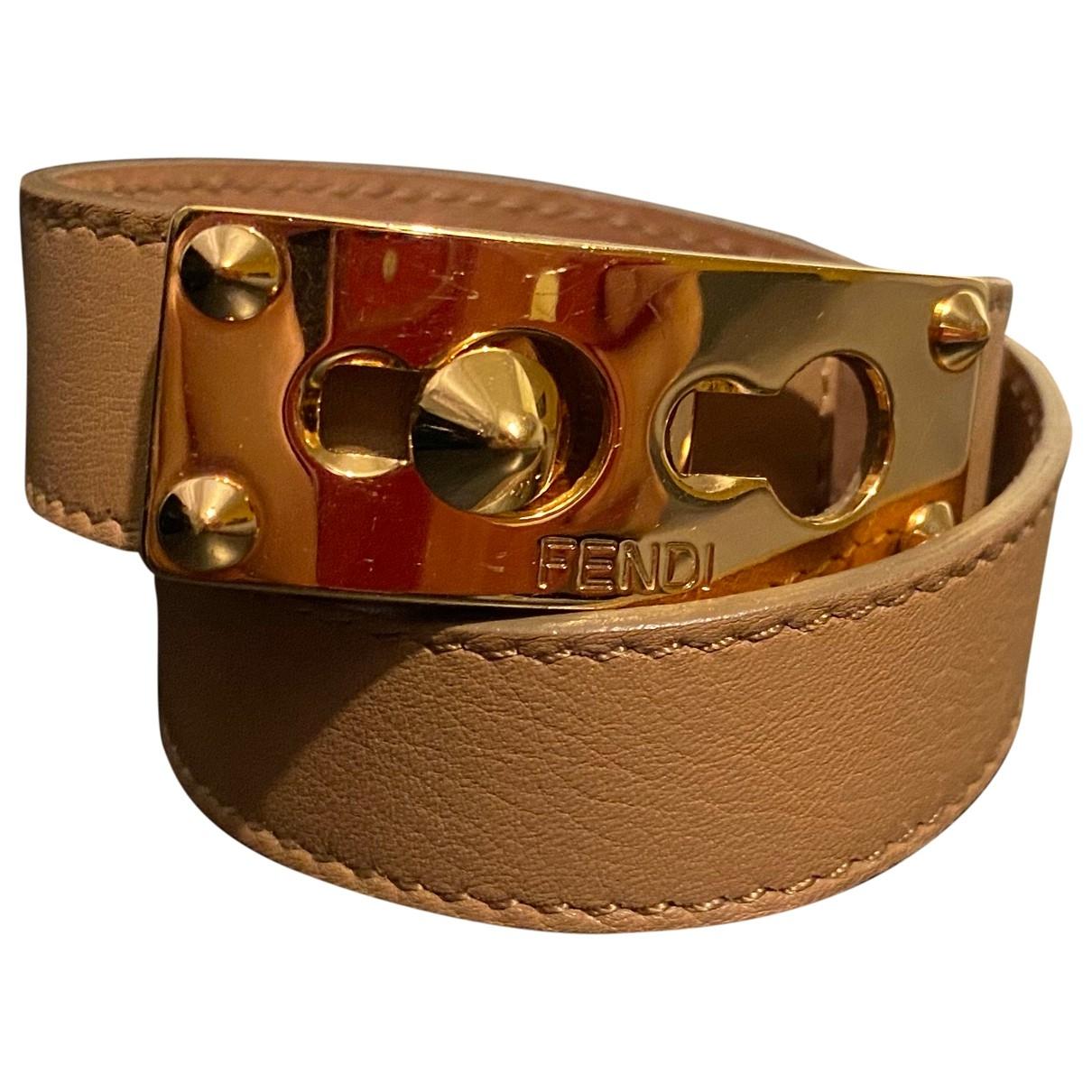 Fendi \N Beige Leather bracelet for Women \N