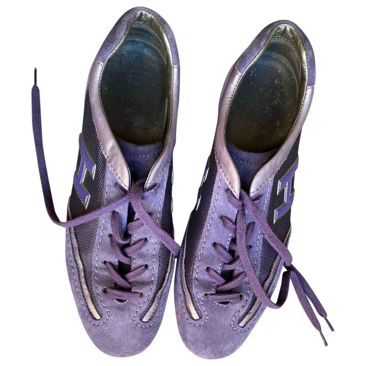 Hogan - Baskets   pour femme en suede - violet