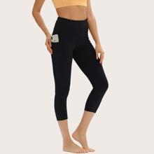 Sports Leggings mit breitem Taillenband und Taschen