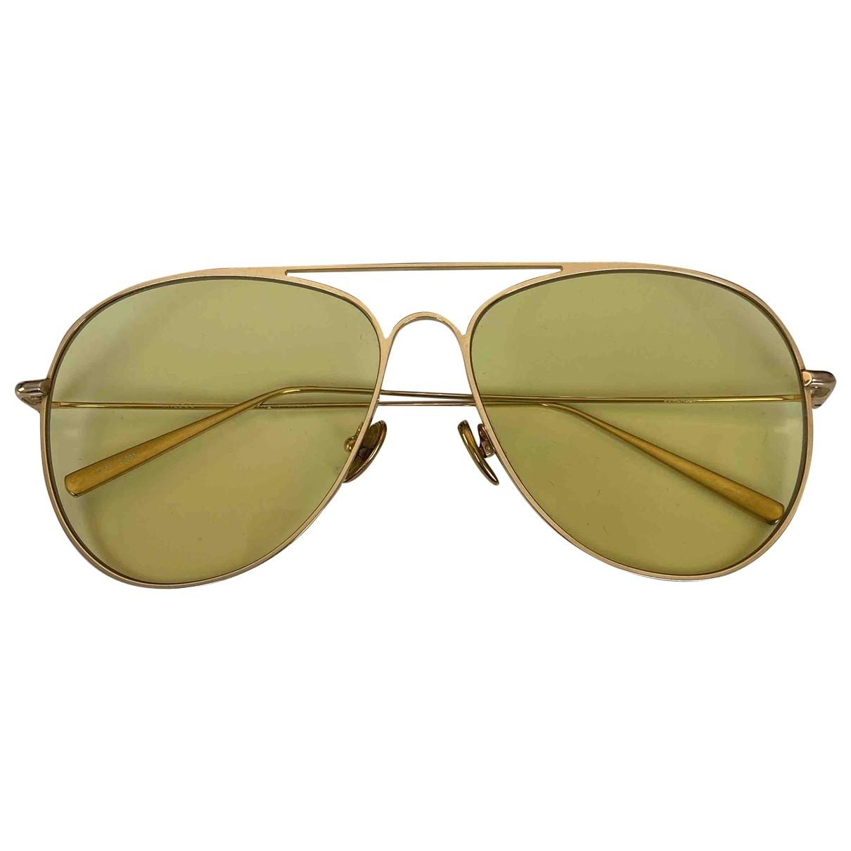 Kaleos \N Yellow Metal Sunglasses for Women \N
