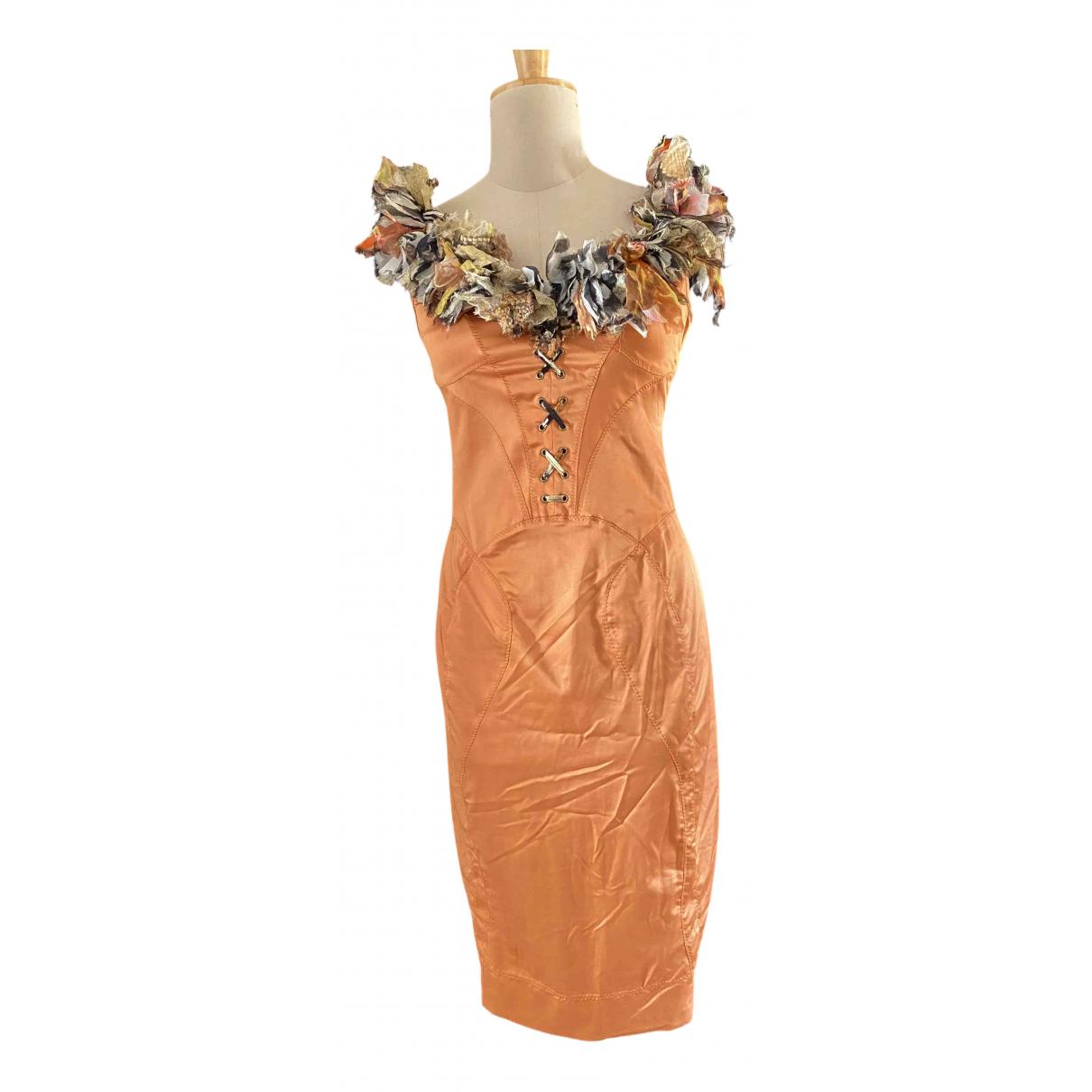 Roberto Cavalli - Robe   pour femme en soie - orange