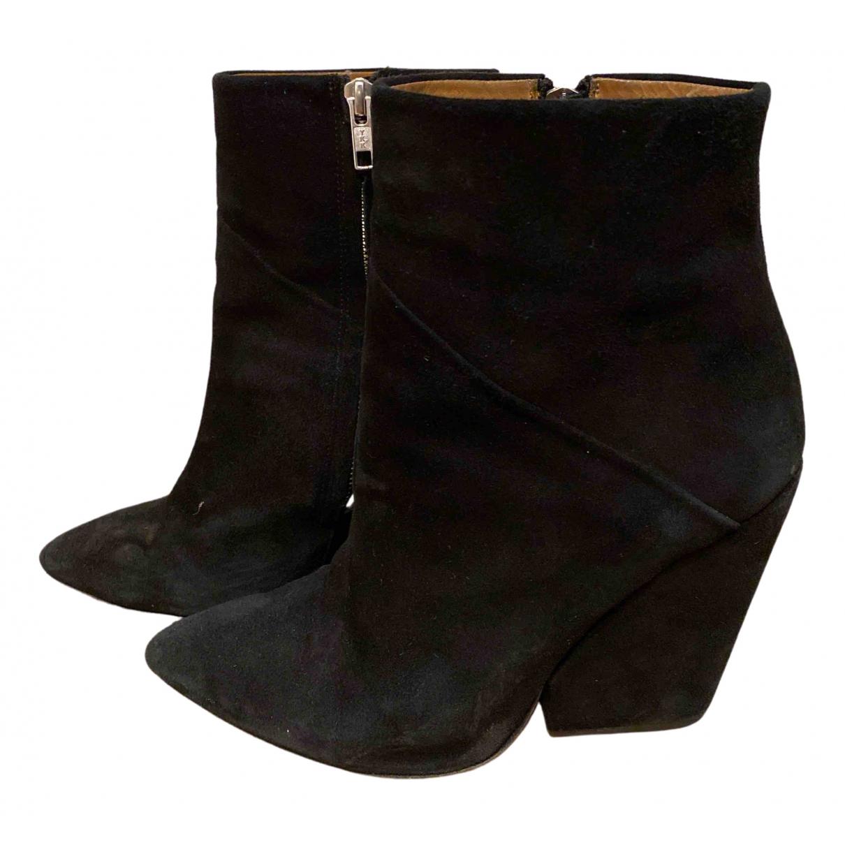 Iro \N Black Suede Heels for Women 38 EU