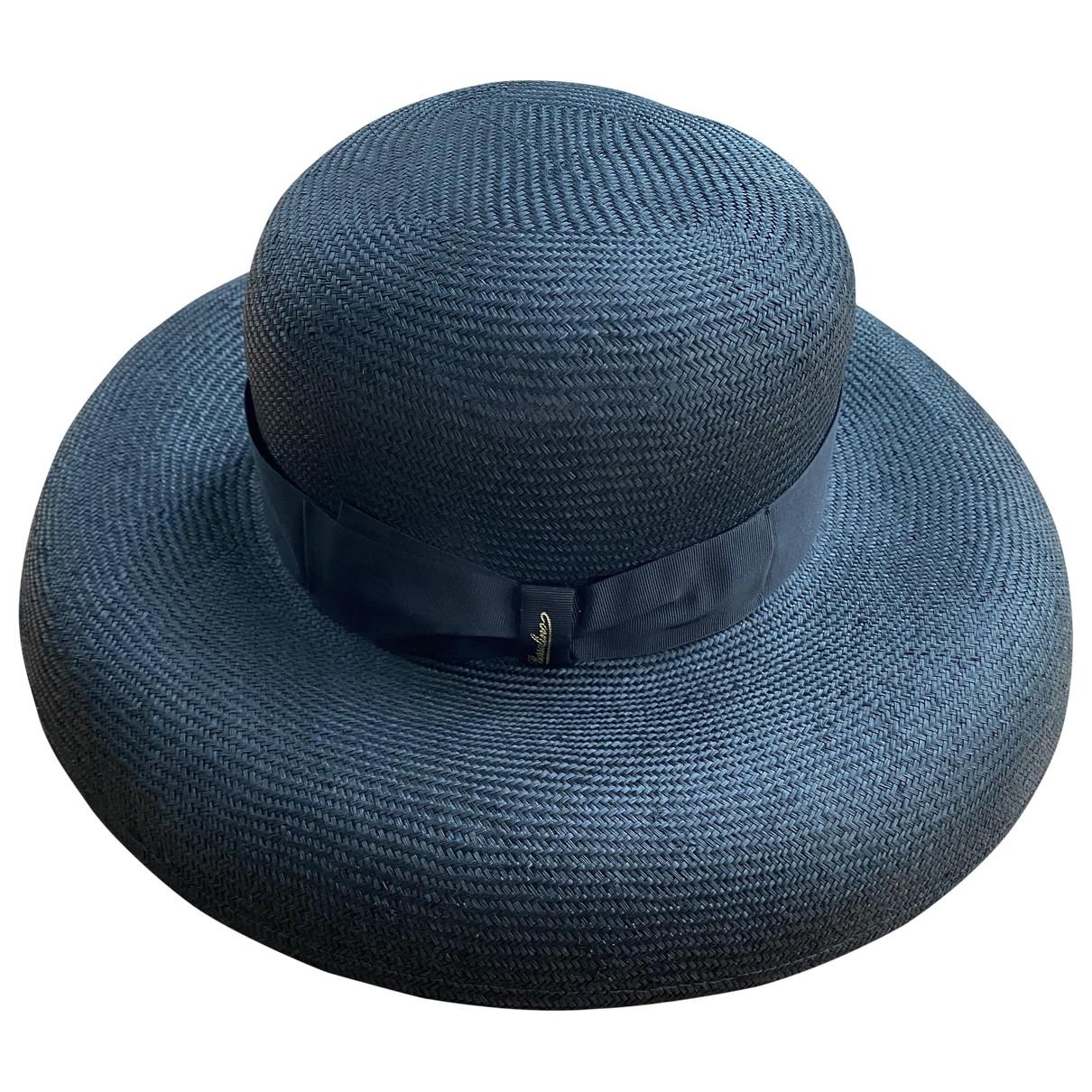 Borsalino - Chapeau   pour femme en paille - anthracite