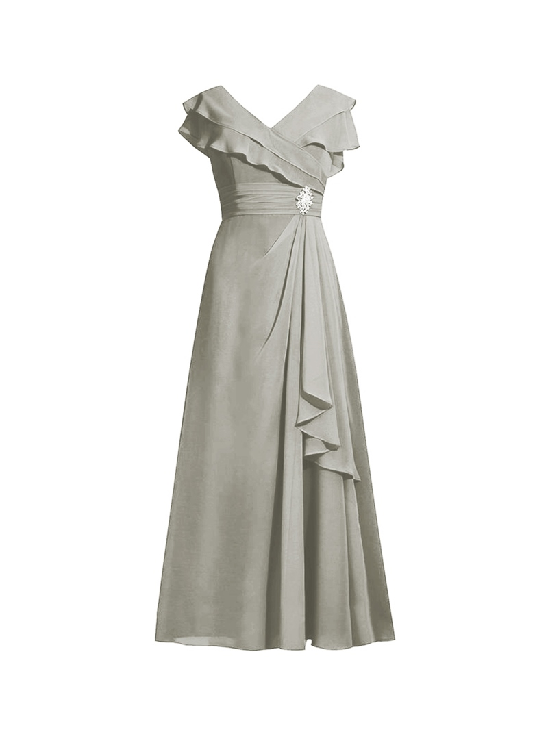 Ericdress V Neck A Line Plus Size Mother of the Bride Dress