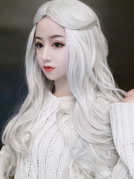 Milanoo Peluca Lolita Larga fibra resistente al calor Lolita rizada Pelucas de cabello