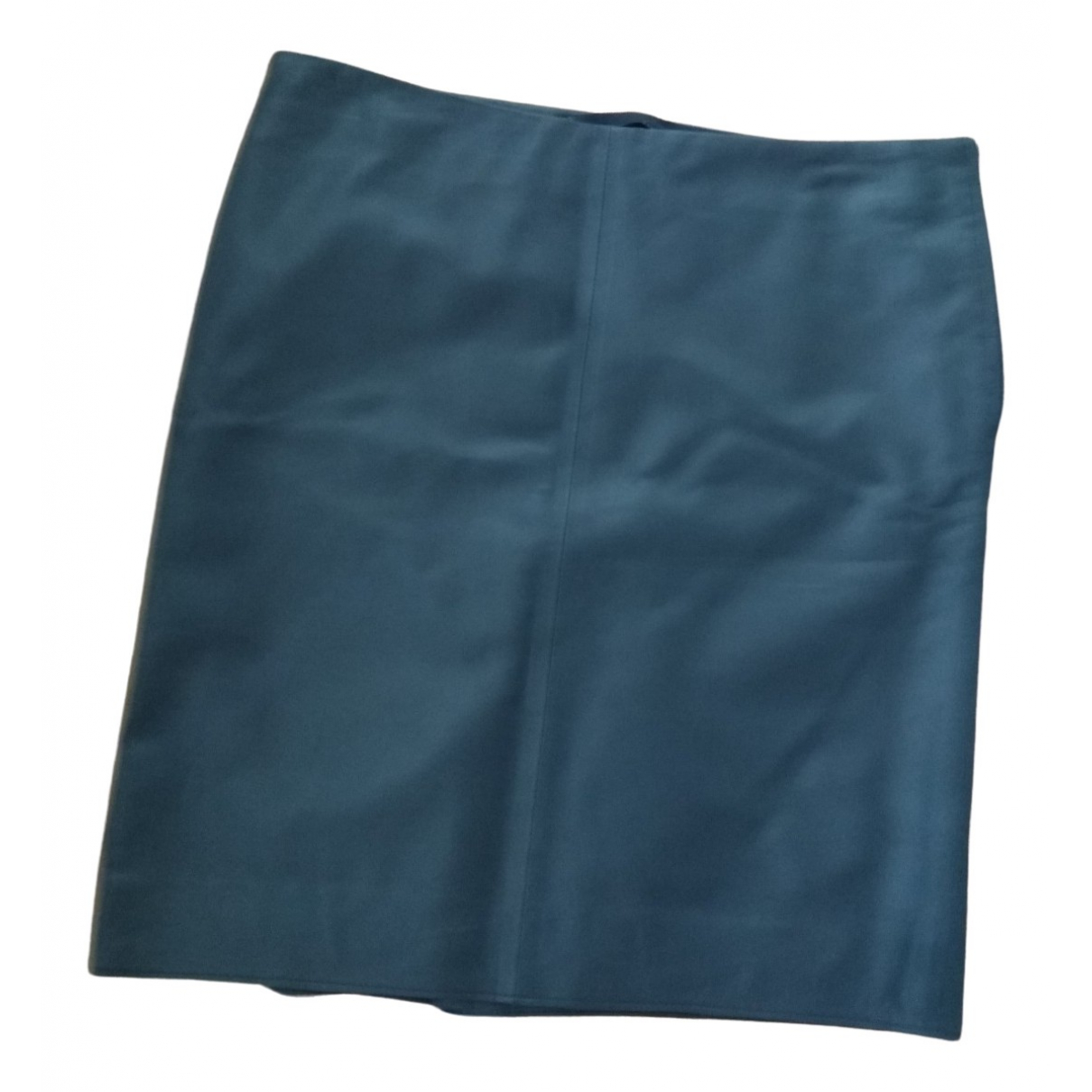 Zara N Blue Leather skirt for Women M International