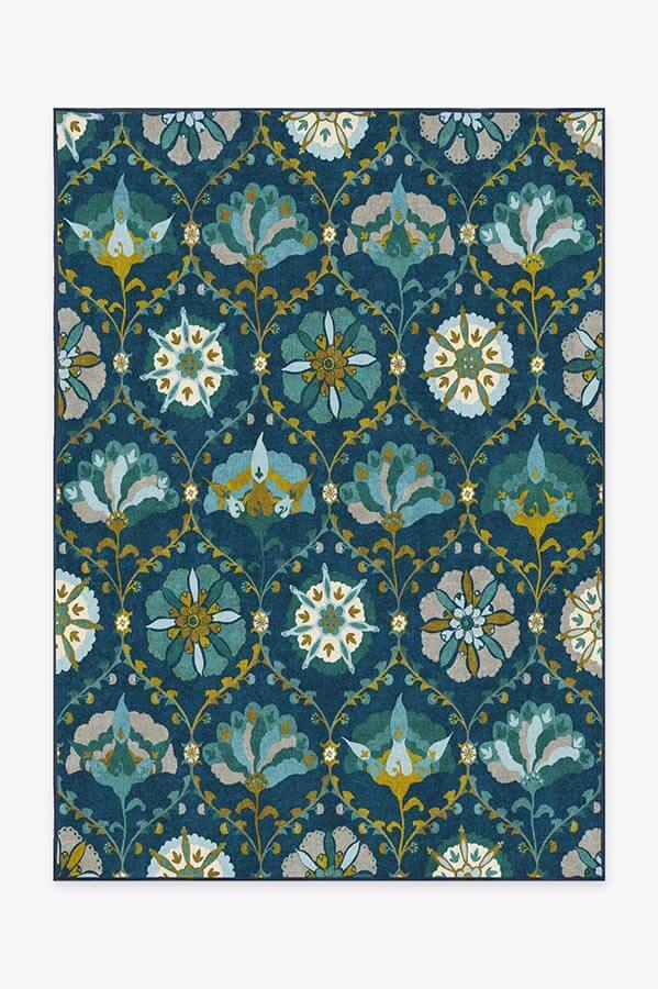 Washable Rug Cover & Pad | Safi Midnight Rug | Stain-Resistant | Ruggable | 5'x7'