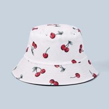 Sombrero cubo con patron de fruta