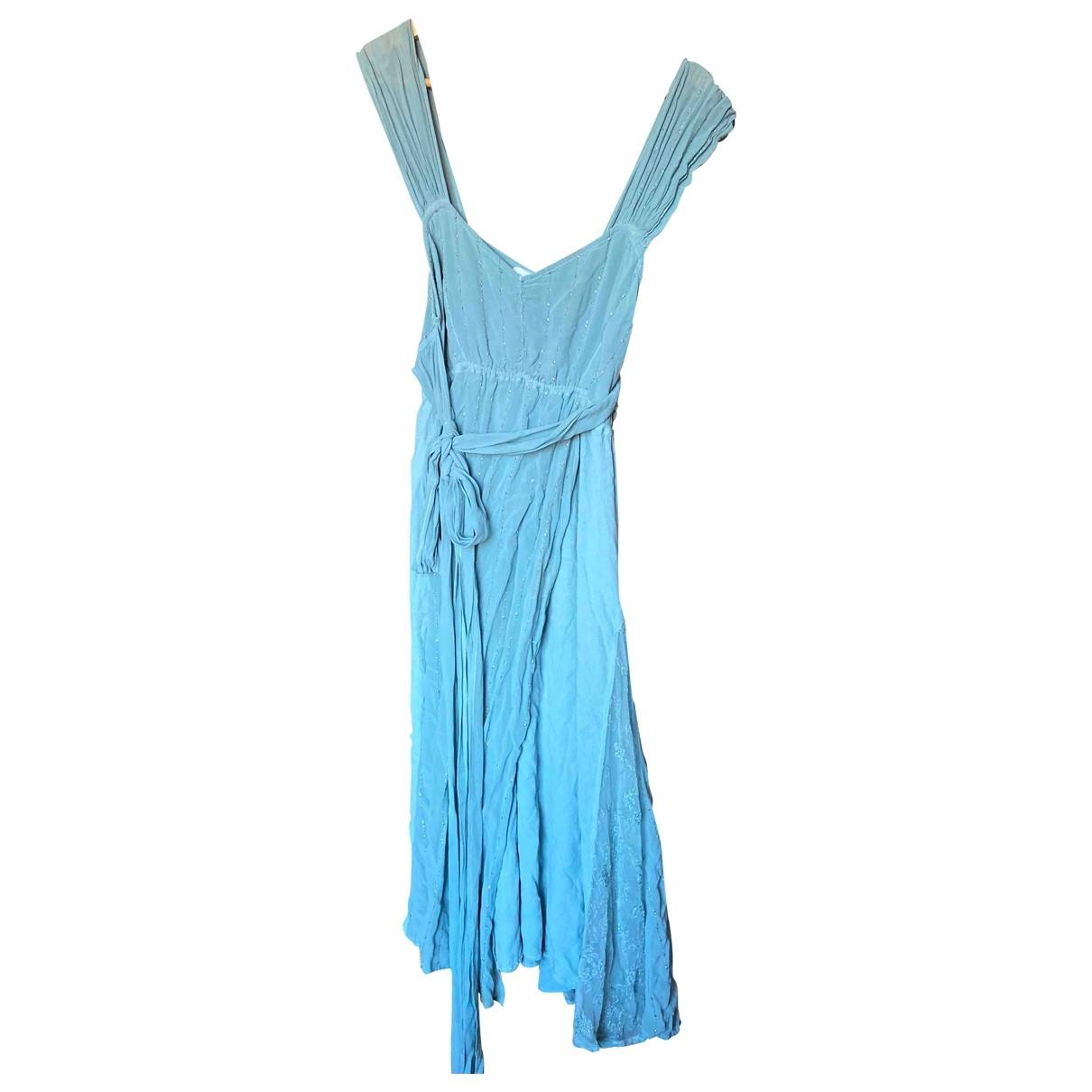 Ghost London \N Kleid in  Blau Viskose