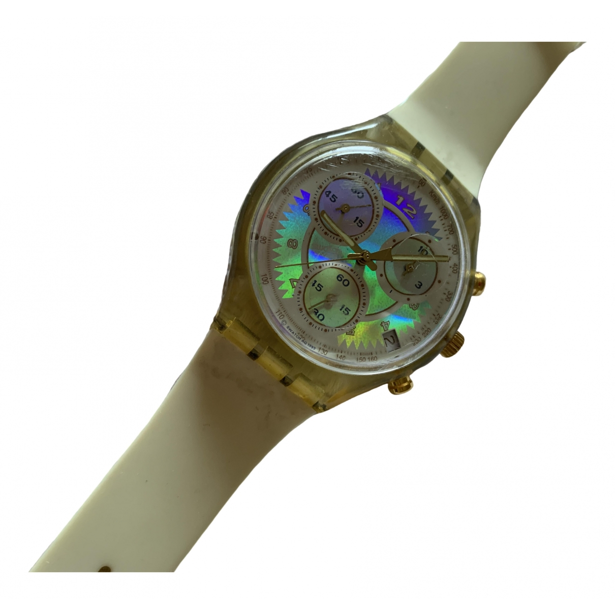 Swatch \N Uhr in  Beige Stahl