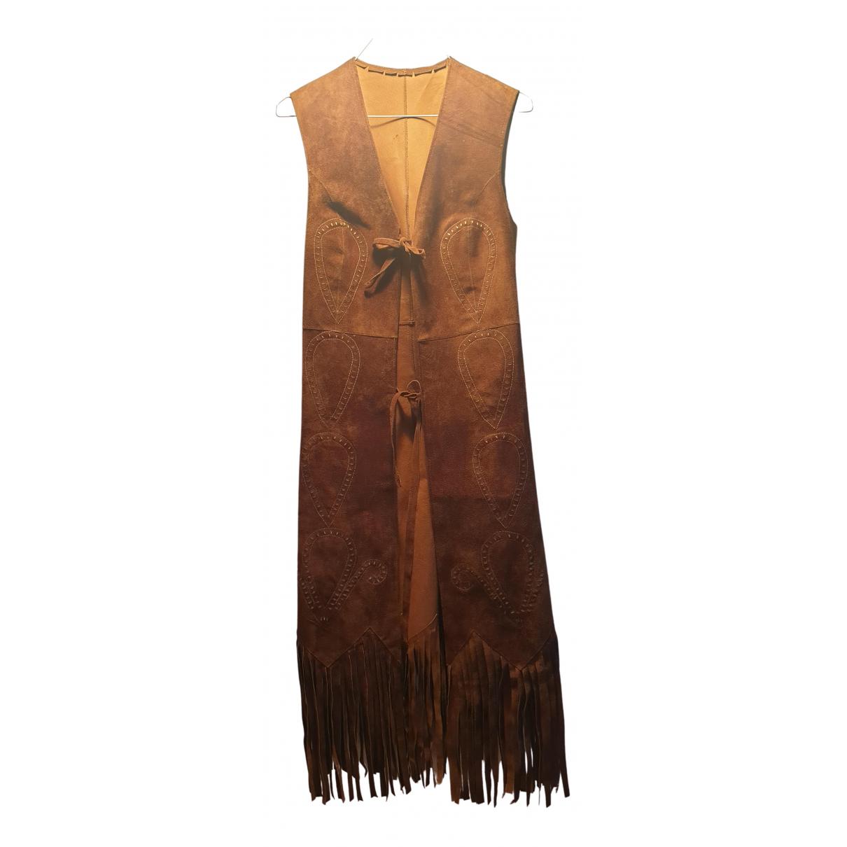- Blouson Hippie Chic pour femme en suede - beige