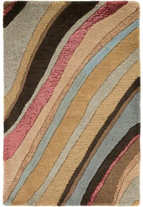 Artist Studio Collection ART229-23 Rectangle 2' x 3' Area Rug  Hand Tufted with Wool Material in Brown and Red