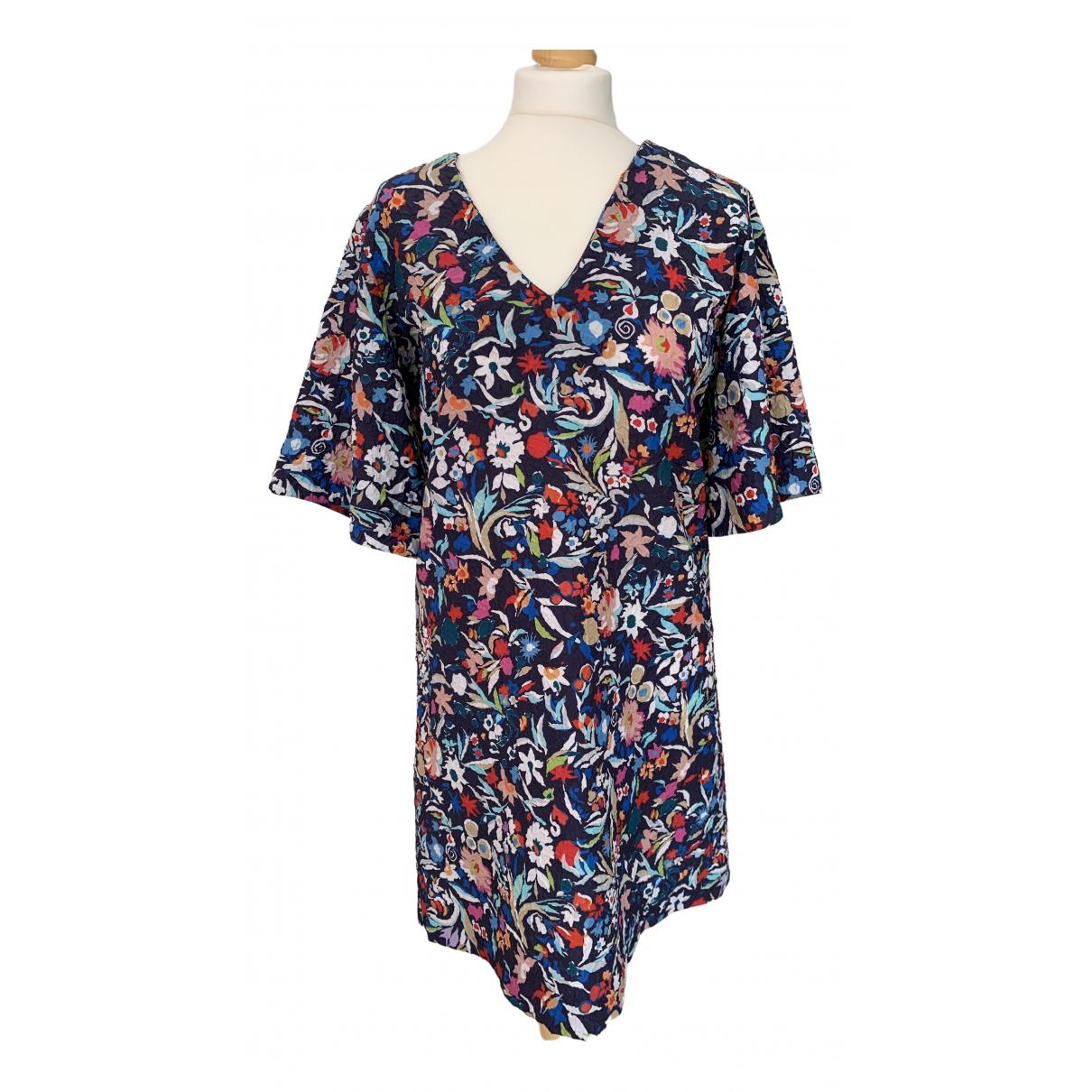 Saloni \N Kleid in  Blau Polyester