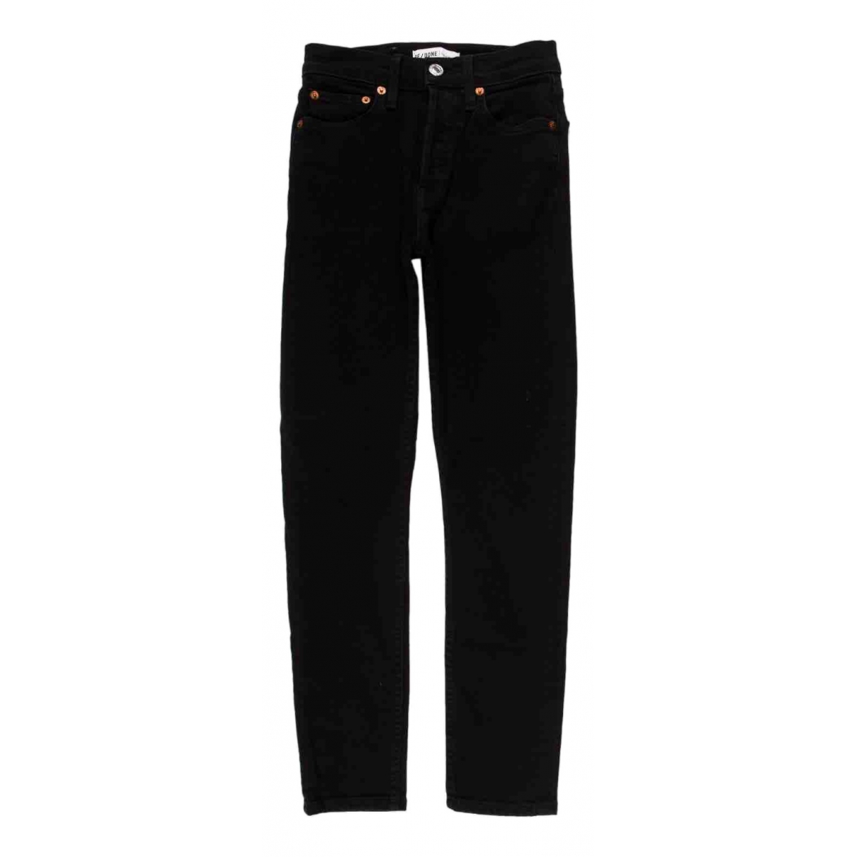 Re/done X Levi's \N Black Cotton Trousers for Women 34 FR