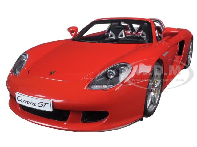 Porsche Carrera GT Red 1/18 Diecast Model Car by Autoart