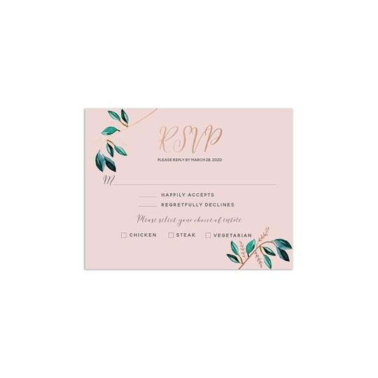 David Tutera™ Gilded Greenery Personalized Foil Wedding Foil RSVP | Michaels®