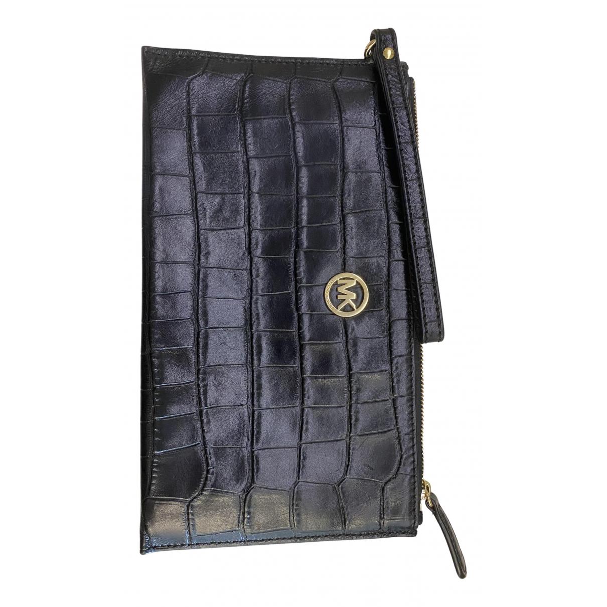 Michael Kors N Black Leather Clutch bag for Women N