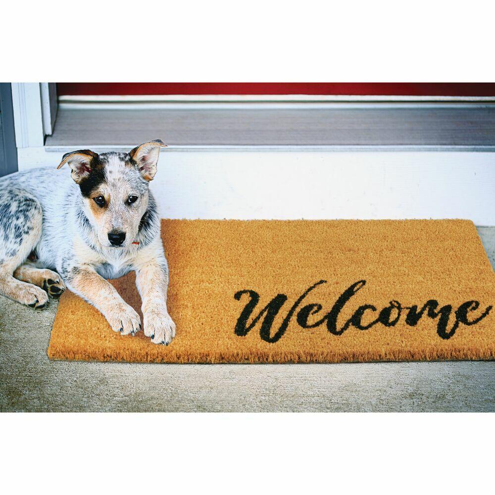 Coir Entryway Indoor, Outdoor Doormat, in Black/Brown, 17