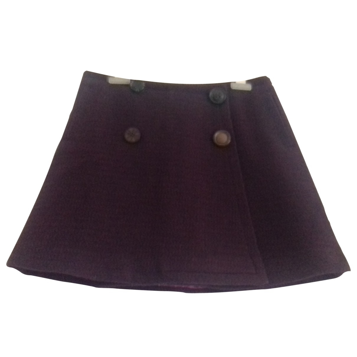 Maliparmi - Jupe   pour femme en laine - bordeaux