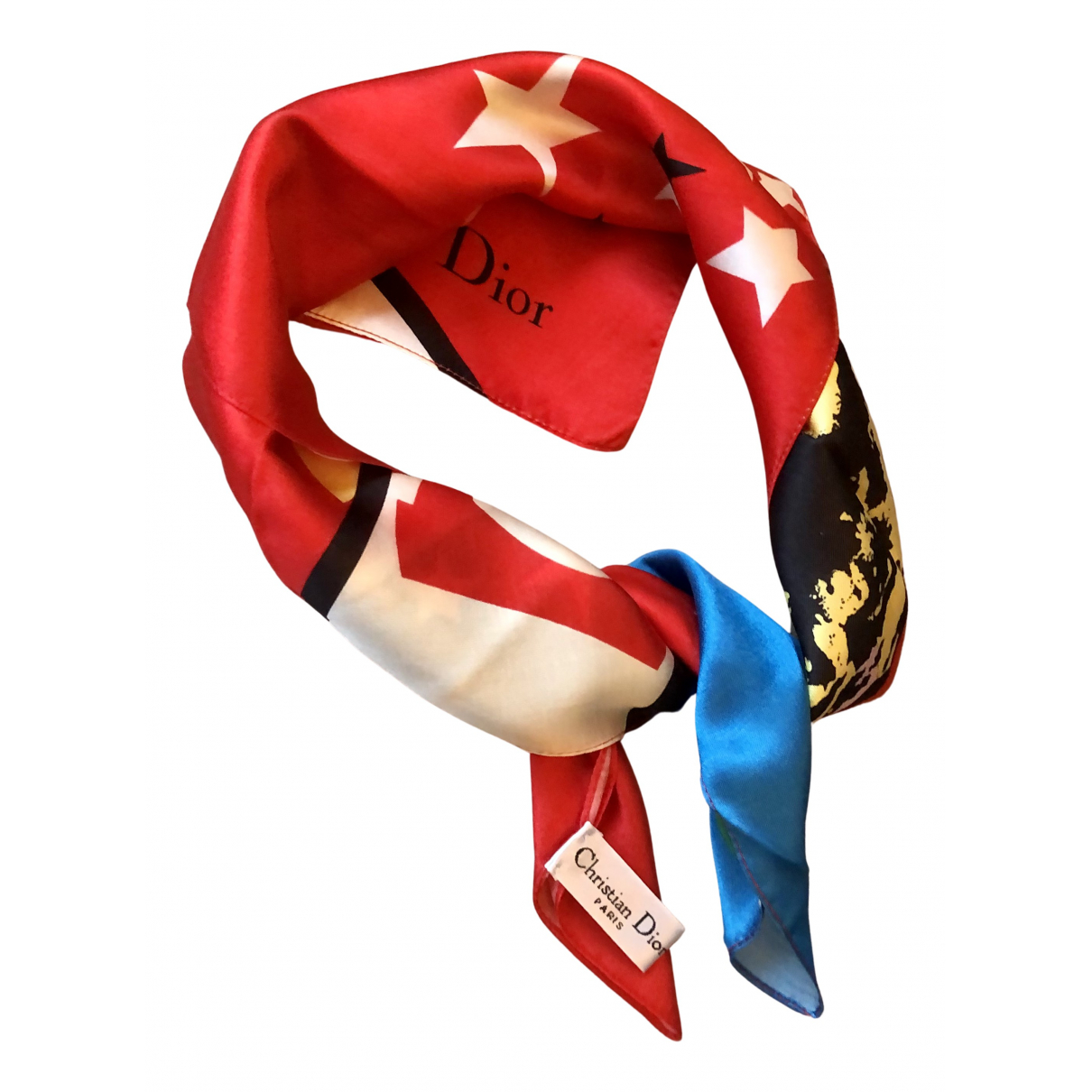 Dior N Red Silk Silk handkerchief for Women N