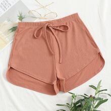 Shorts tejidos de canale con cordon delantero