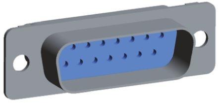 TE Connectivity , AMPLIMITE 109 Series Straight Military Crimp D-Sub Connector, Plug, 15 Pin
