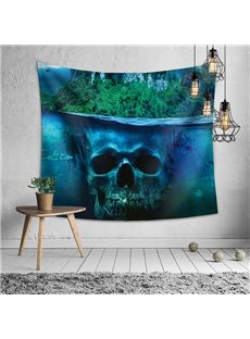 Blue Skeleton Decorative Hanging Halloween Themed Wall Tapestry