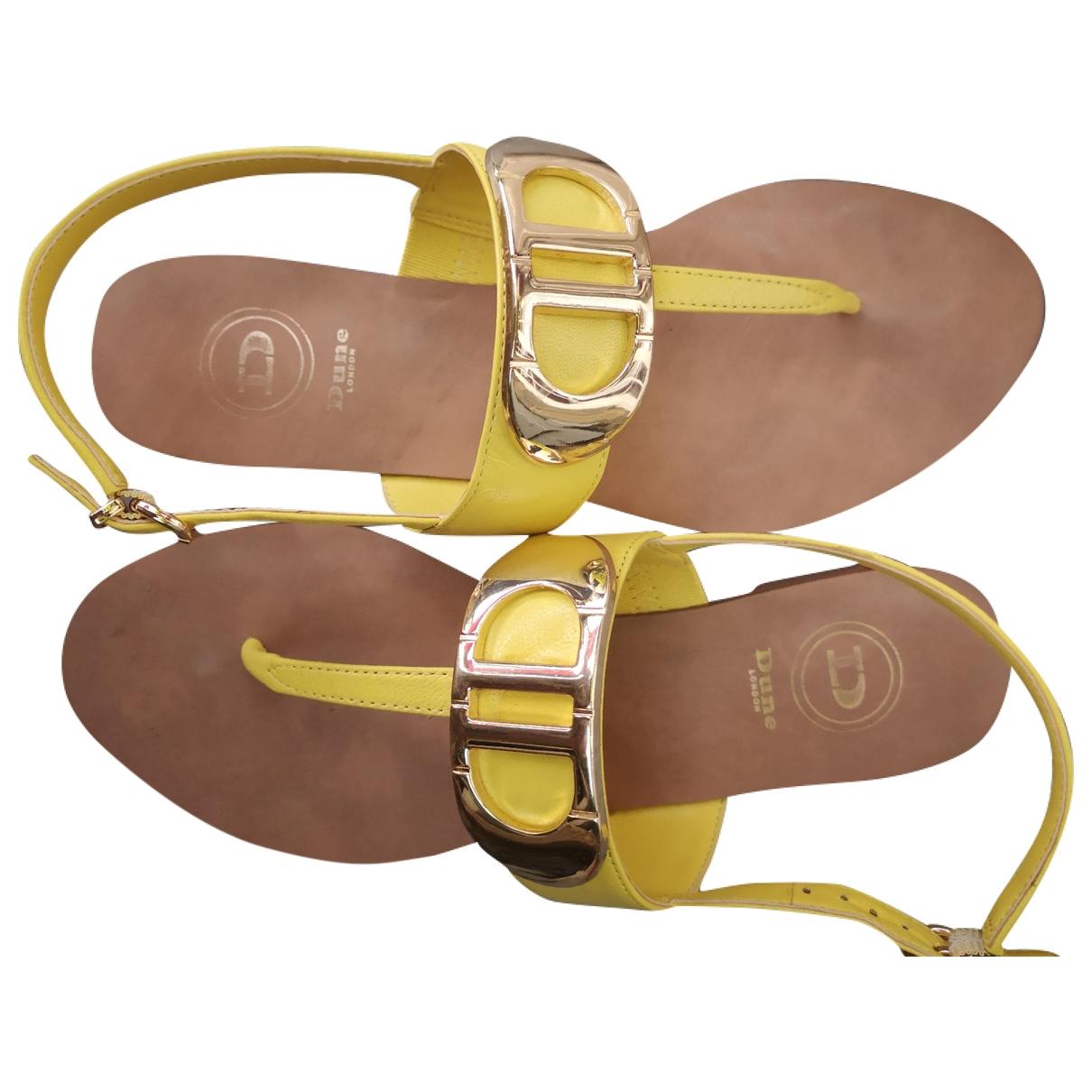 Dune \N Sandalen in  Gelb Leder