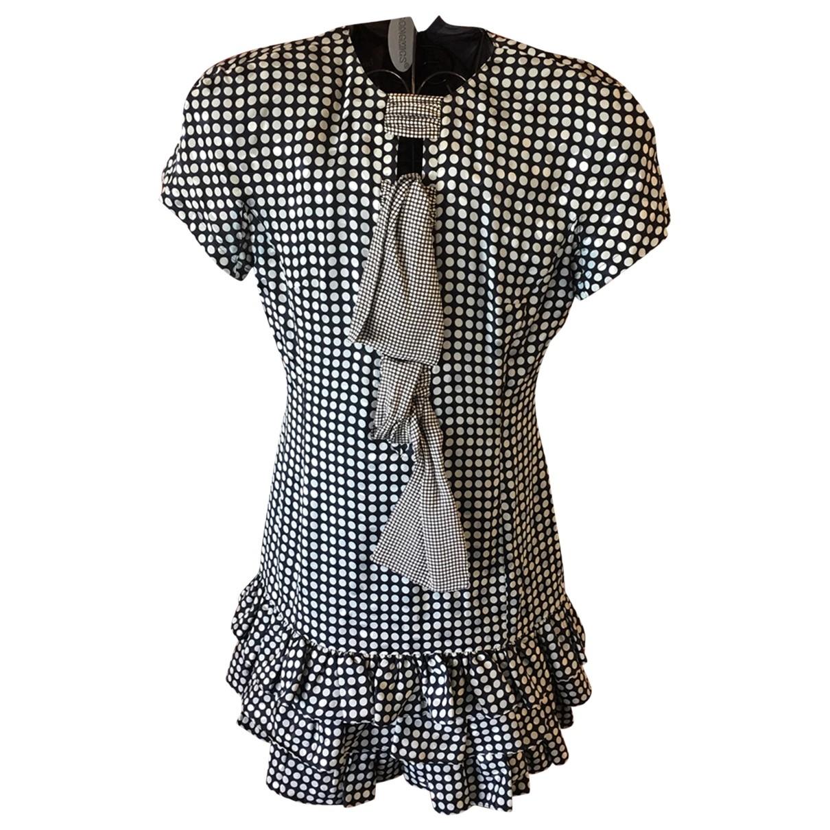 Louis Feraud \N Blue Silk dress for Women 42 FR