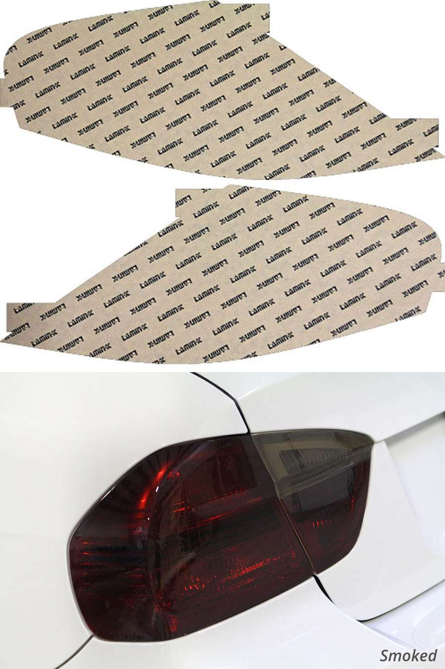 BMW M6 06-10 Smoked Tail Light Covers Lamin-X B216-1S