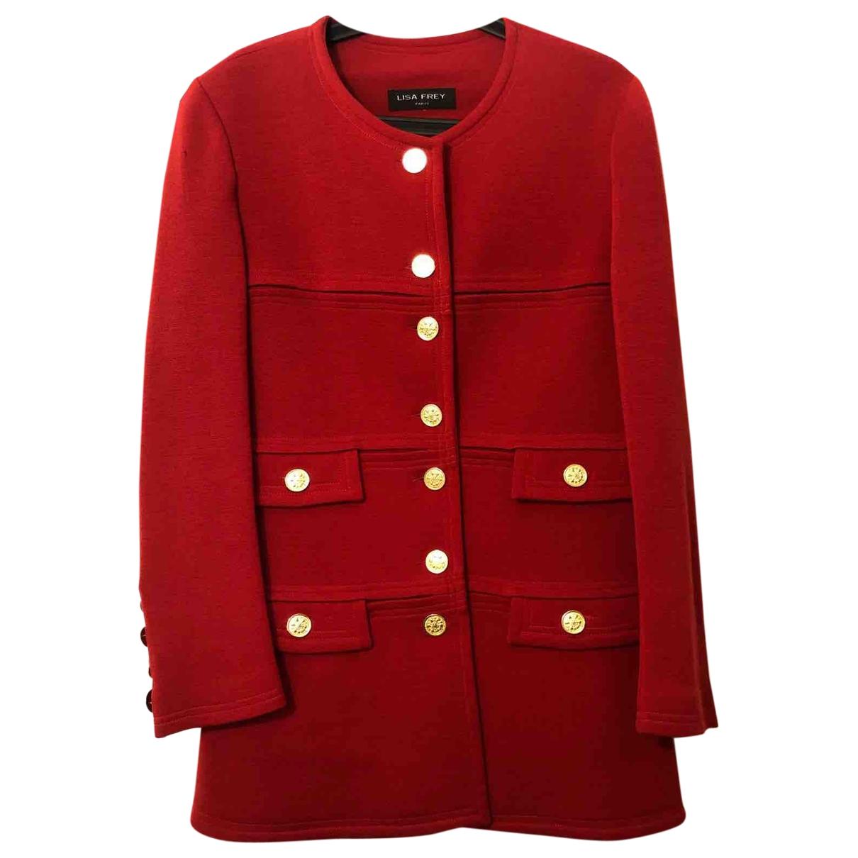 Lisa Perry \N Maentel in  Rot Wolle