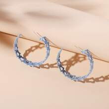Star Design Cuff Hoop Earrings