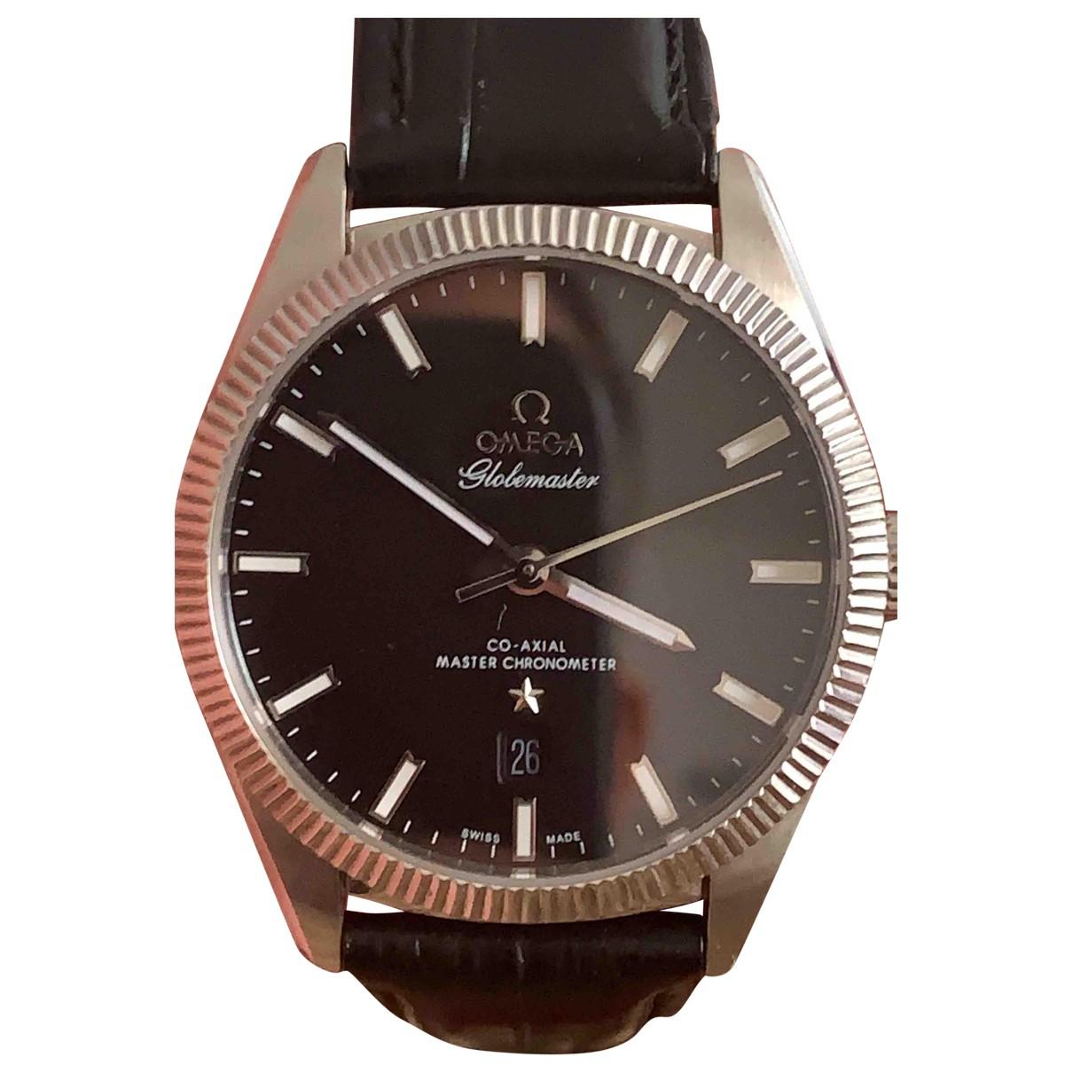 Omega \N Uhr in  Schwarz Stahl