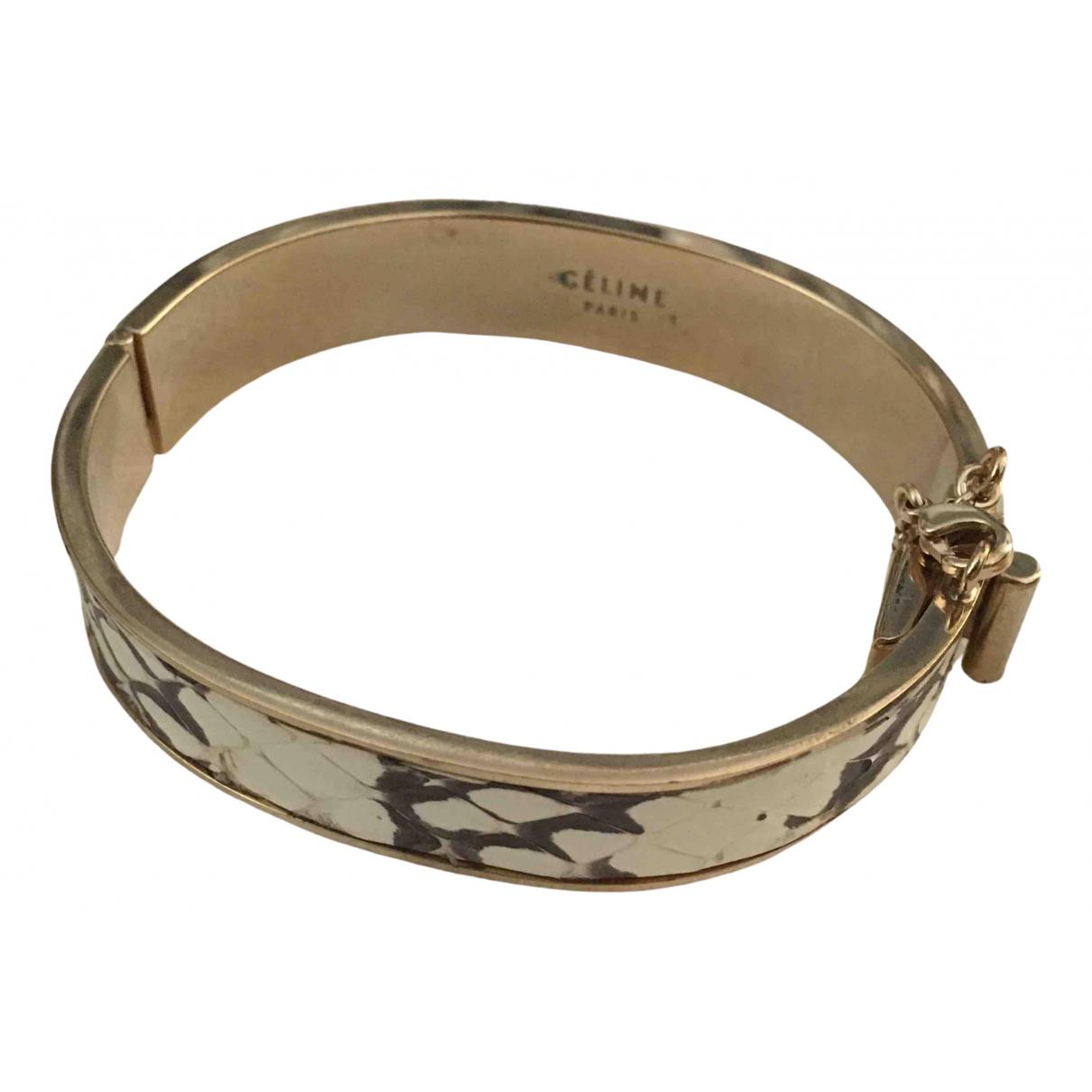 Celine - Bracelet   pour femme en python - dore