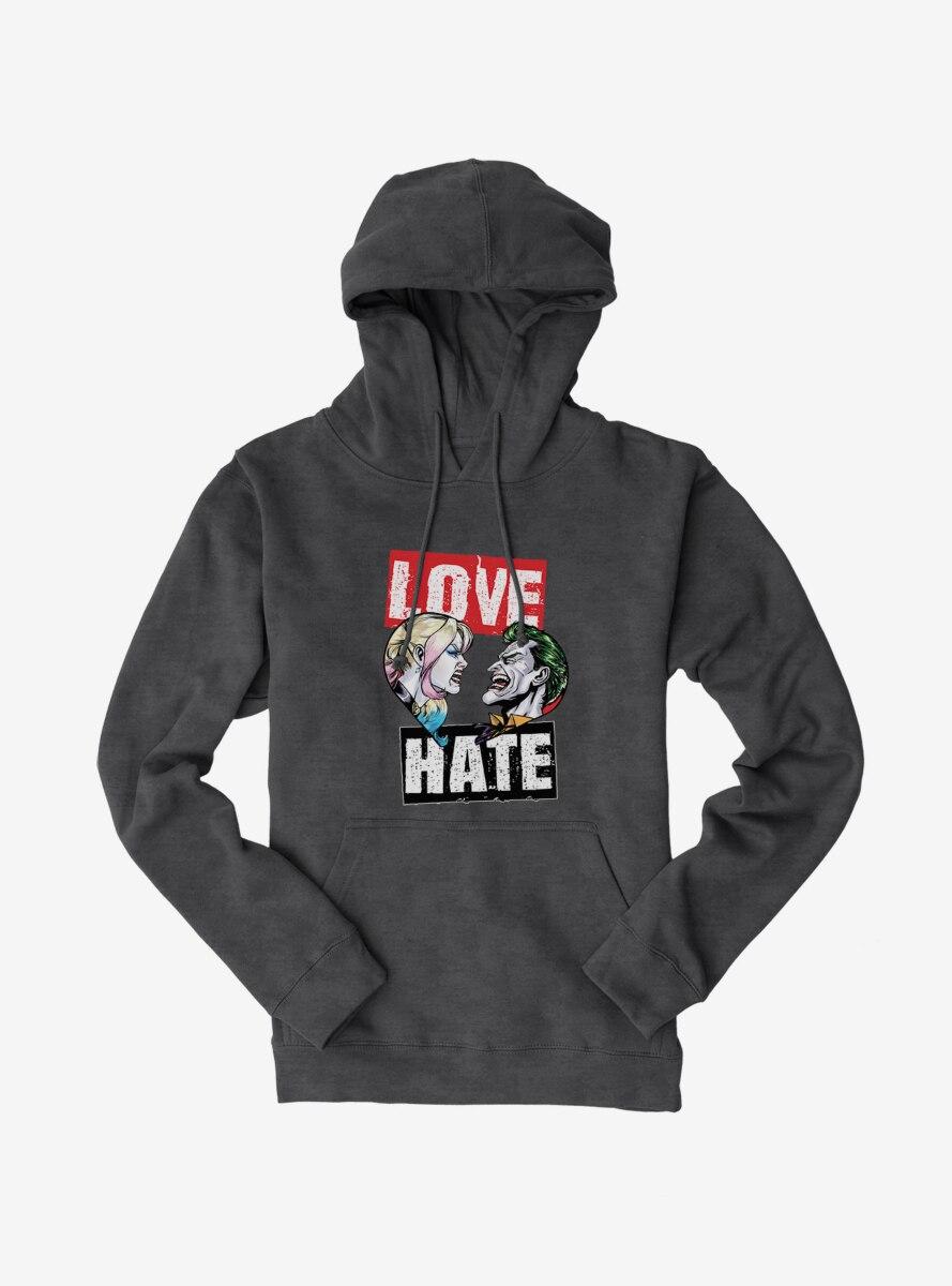 DC Comics Batman Joker And Harley Quinn Love Hate Hoodie