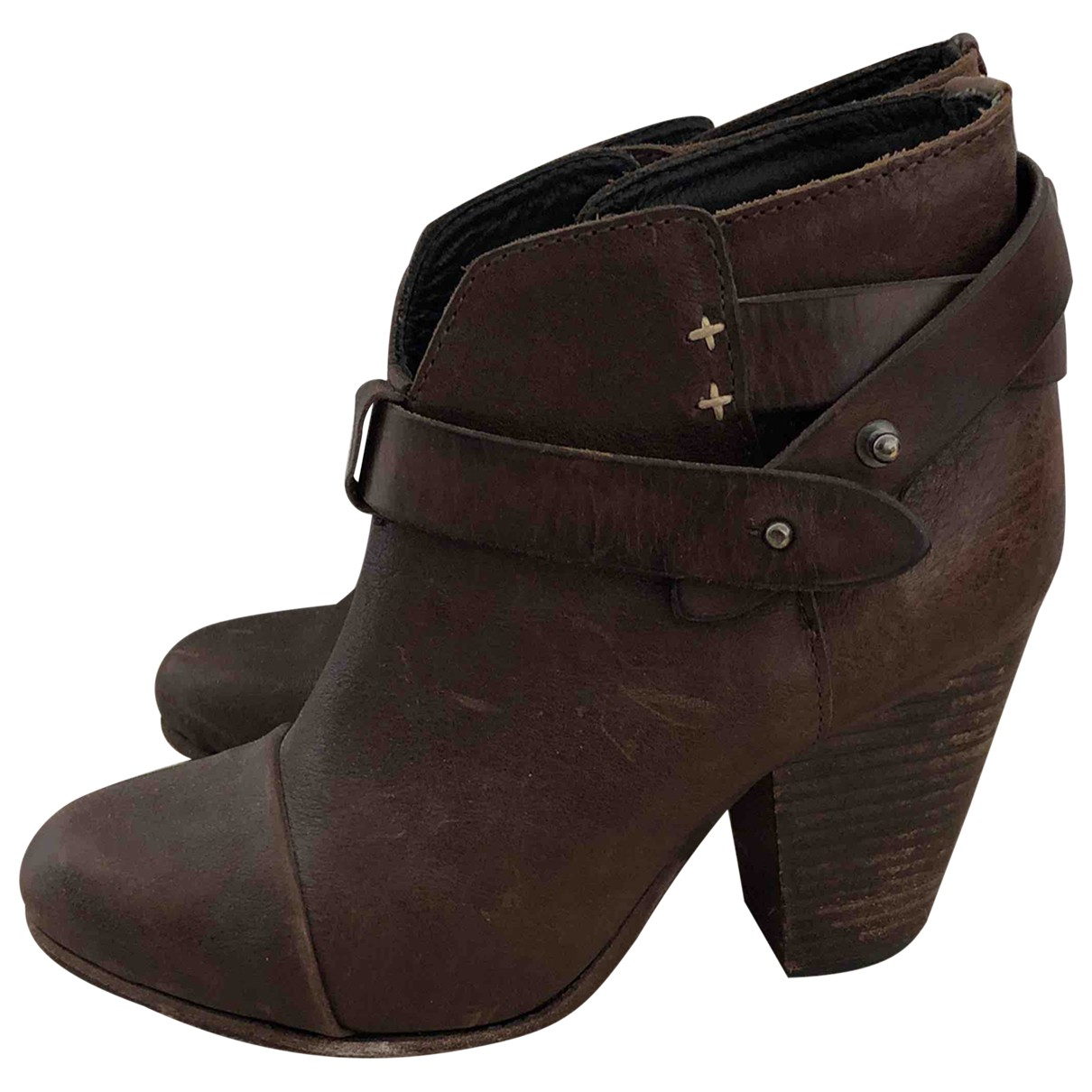 Rag & Bone \N Brown Leather Ankle boots for Women 36 EU