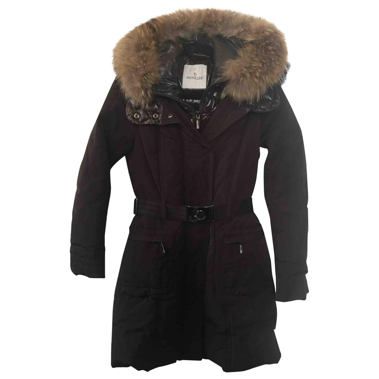 Moncler - Manteau Fur Hood pour femme - marron